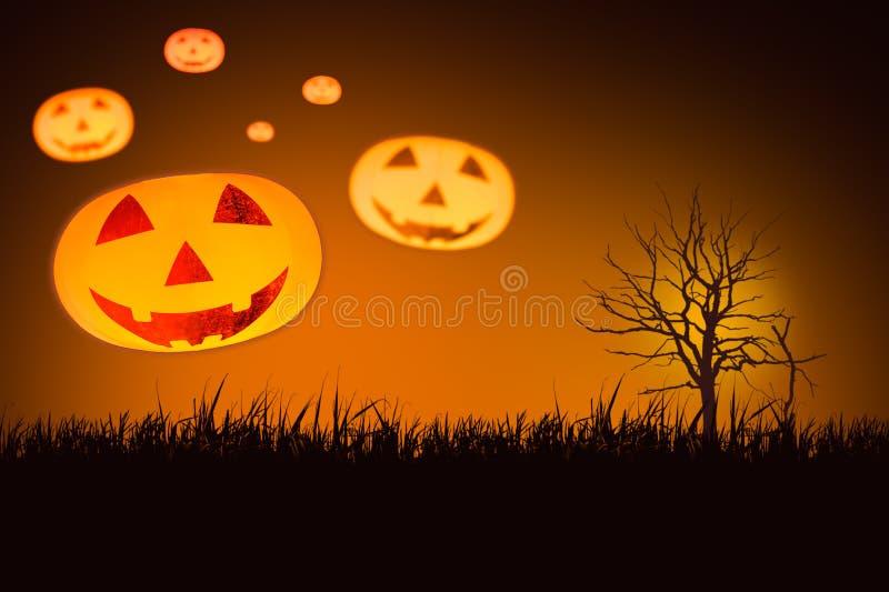 Wieloskładnikowa Halloweenowa bania zdjęcia royalty free