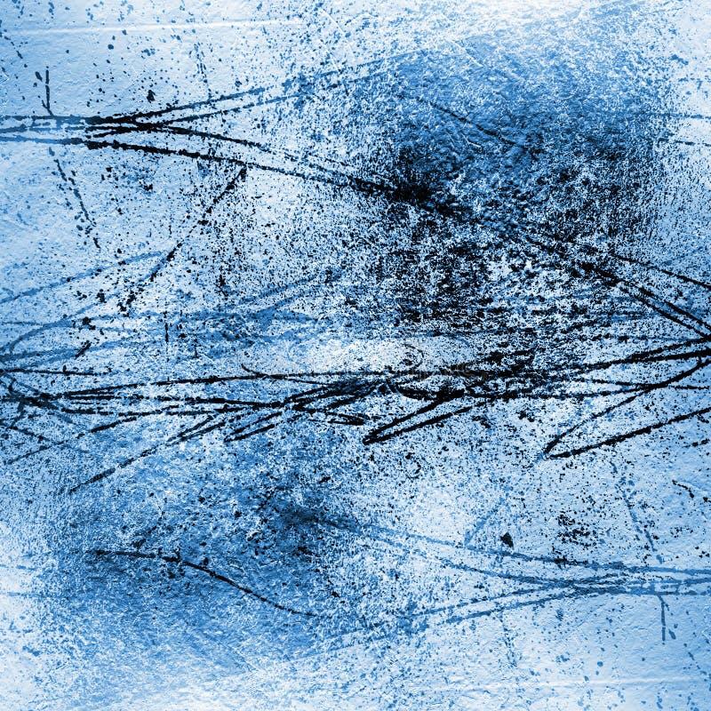 Wieloskładnikowa valuesCement ściana z ampuła narysami na tynku royalty ilustracja