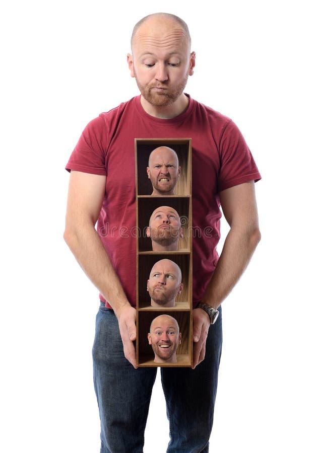 Wieloskładnikowe osobowości zdjęcie stock