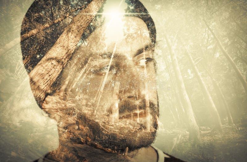 Wieloskładnikowego ujawnienia portret obraz royalty free