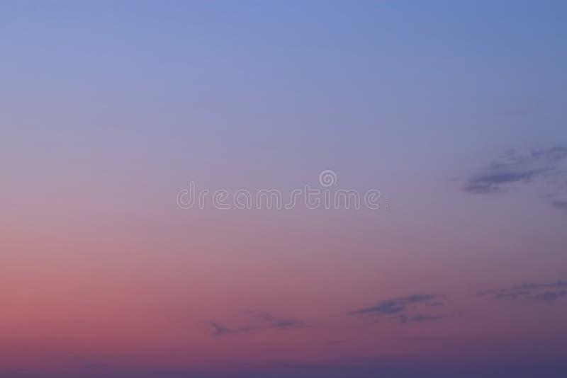 WIELOSKŁADNIKOWY kolor niebo W wieczór zdjęcie stock
