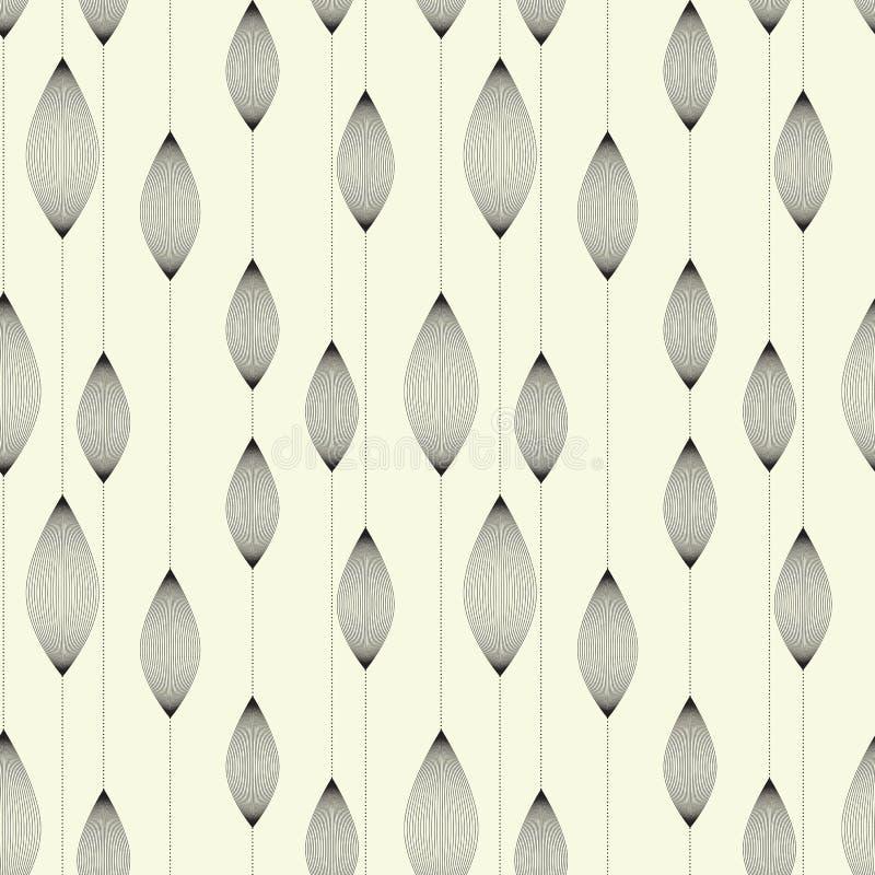 Wielostrzałowe graficzne geometryczne płytki rhombuses ilustracja wektor
