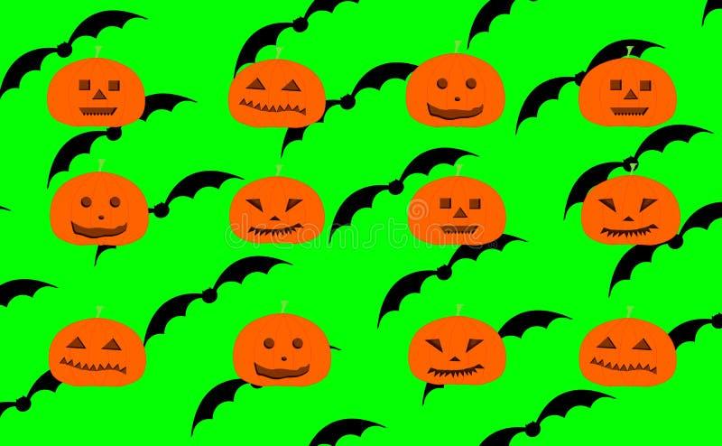 Wielostrzałowy wzór rzeźbić Halloweenowe banie ilustracja wektor