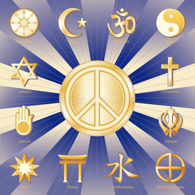 wielu wyznań pokoju świat ilustracja wektor