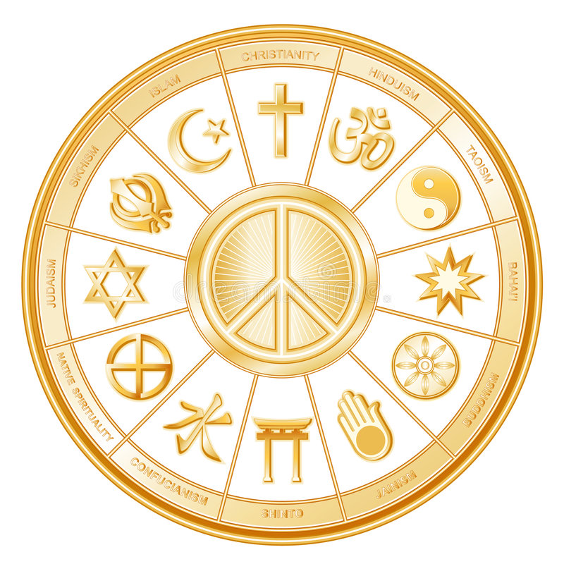 wielu wyznań pokoju świat ilustracji