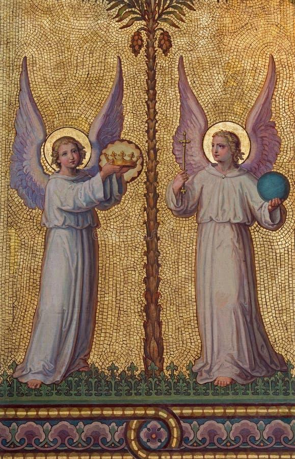 Wien - ängelmosaik arkivfoto
