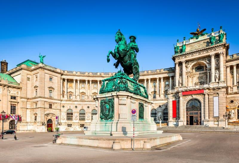 Wien, Österreich - Hofburg Palast Die alte Stadt ist eine UNESCO-Welterbe-Site stockbild