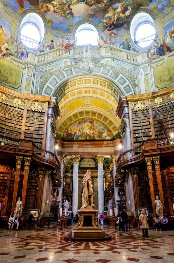 Wien, österreichische Nationalbibliothek stockbild