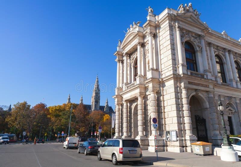 Wien Österrike, Burgtheateren arkivbilder