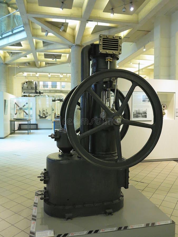 26 05 2018, Wien, Austria: Stary parowy silnik w Wiedeń technicznym muzeum fotografia royalty free