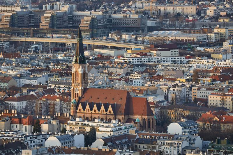 Wien-Dämmerungs-Ansicht lizenzfreie stockbilder