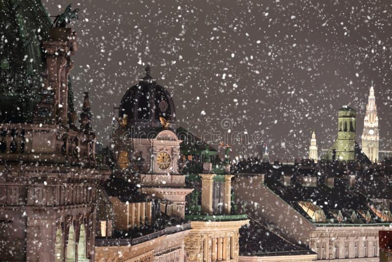 Wien-Dachspitzenstadtbild lizenzfreie stockfotografie