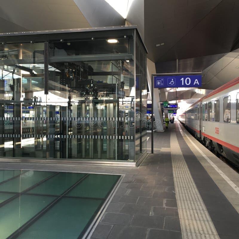 Wien drevstation royaltyfri foto