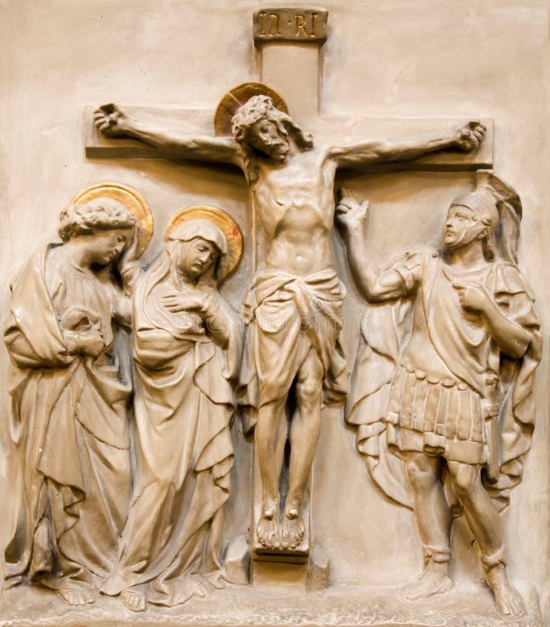Wien - Entlastung Christ auf dem Kreuz stockfotografie