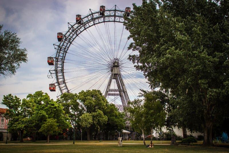 Wien Ferris Wheel, Österreich lizenzfreie stockfotografie