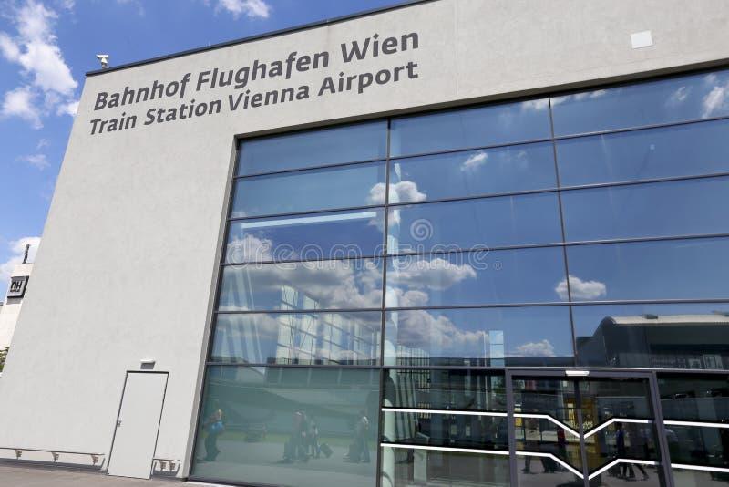 Wien-Flughafen stockbild