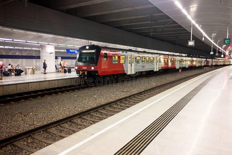 Wien flygplatsstation fotografering för bildbyråer