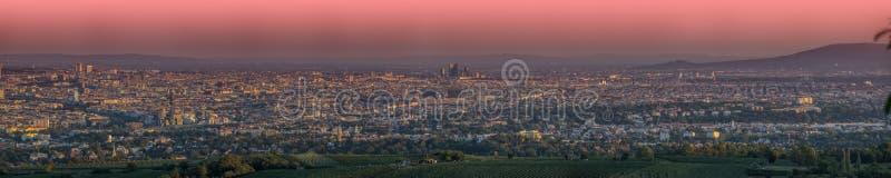 Wien gesehen von den Hügeln stockfoto