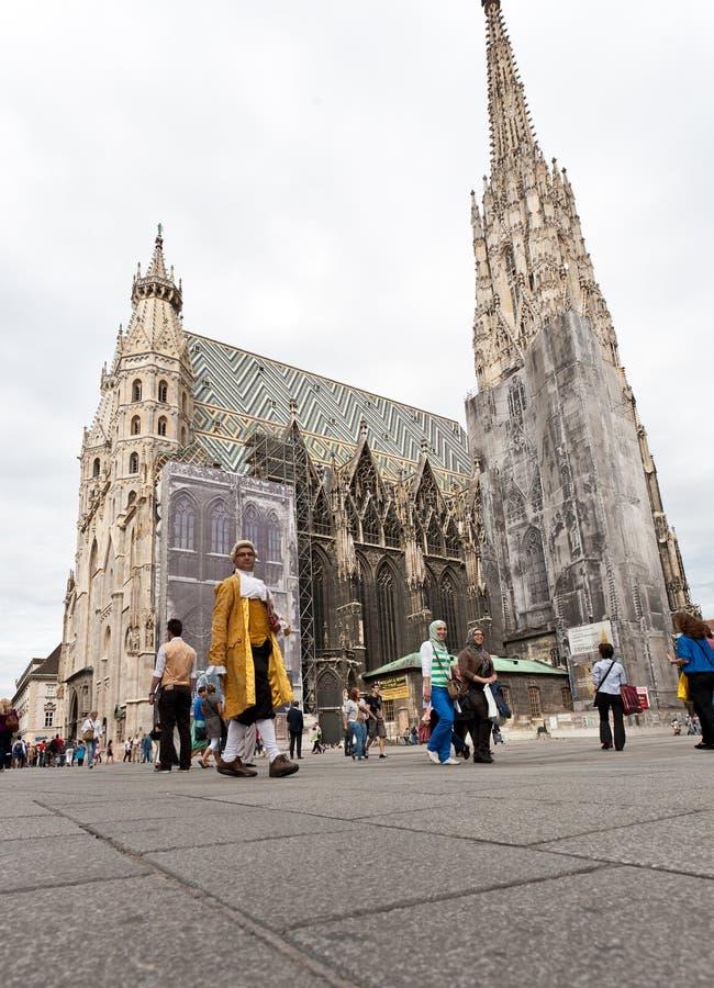 Wien historiska mitt, St Stephen domkyrka royaltyfri bild