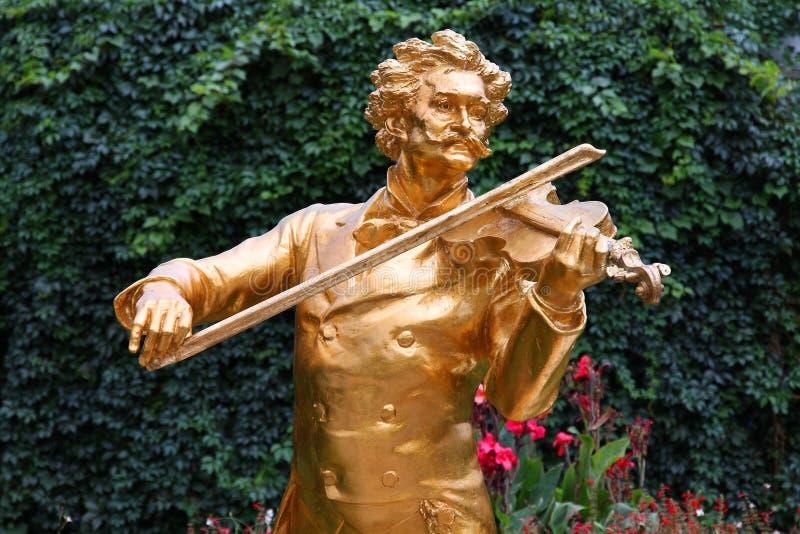 Wien - Johann Strauss stockbilder