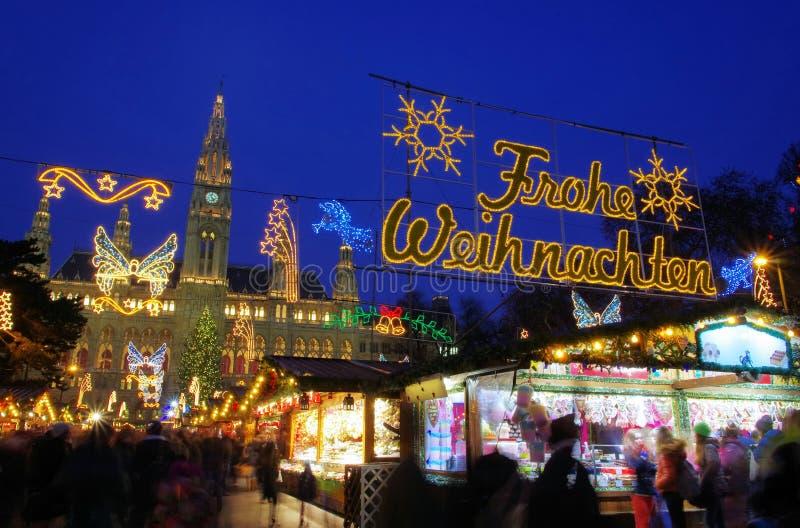 Wien julmarknad arkivfoton