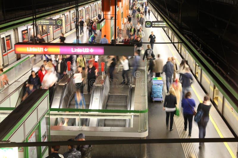 Wien-Metrostation stockfotos