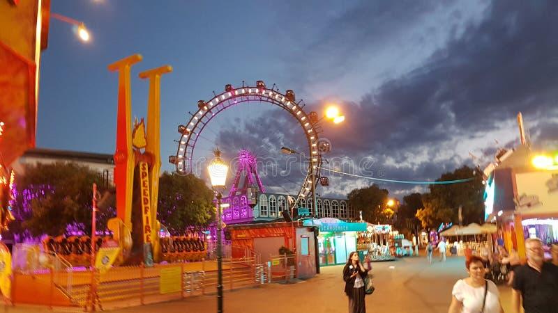 Wien nachts stockbilder