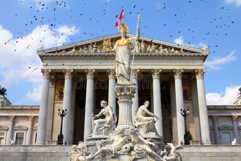 Wien parlament royaltyfri fotografi