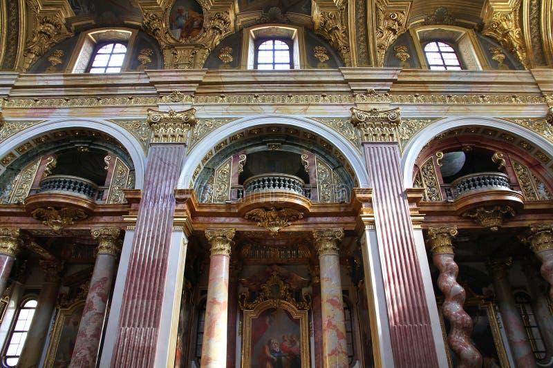 Wien - Jesuitkyrka arkivfoton