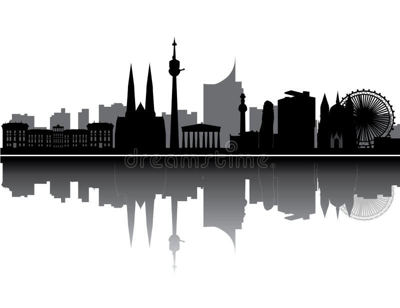 Wien-Skyline stock abbildung