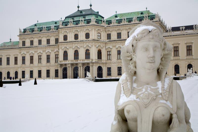 Wien - Sphinx vom Belvederepalast stockbilder