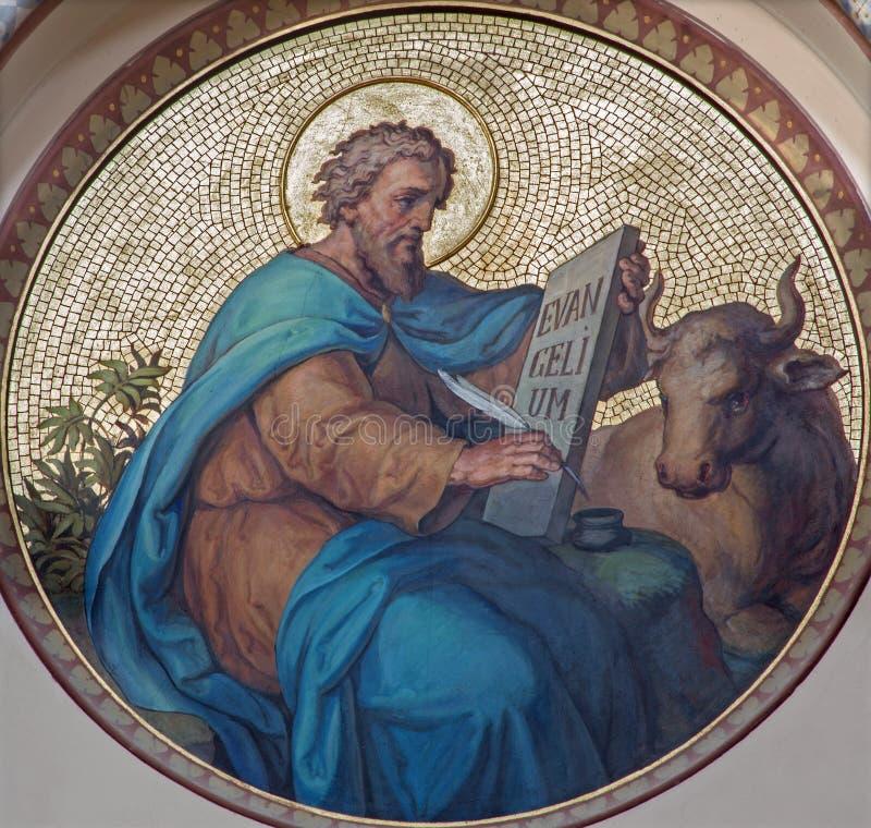 Wien - St Luke der Evangelist lizenzfreies stockbild