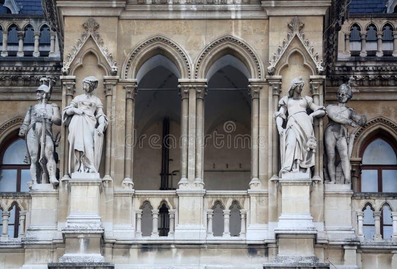 Wien stadshus som bygger Rathaus royaltyfria foton