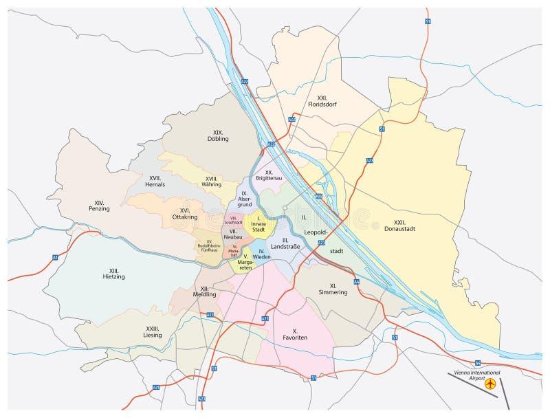 Wien-Stadtplan vektor abbildung