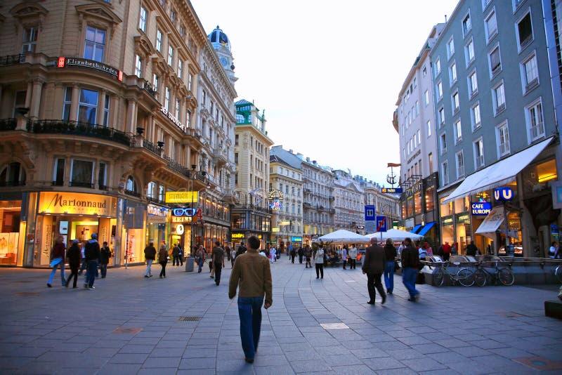 Wien-Straße, Österreich lizenzfreies stockfoto