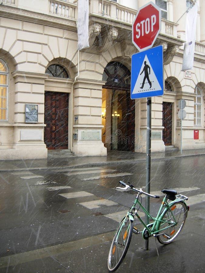 Wien-Straße lizenzfreies stockbild