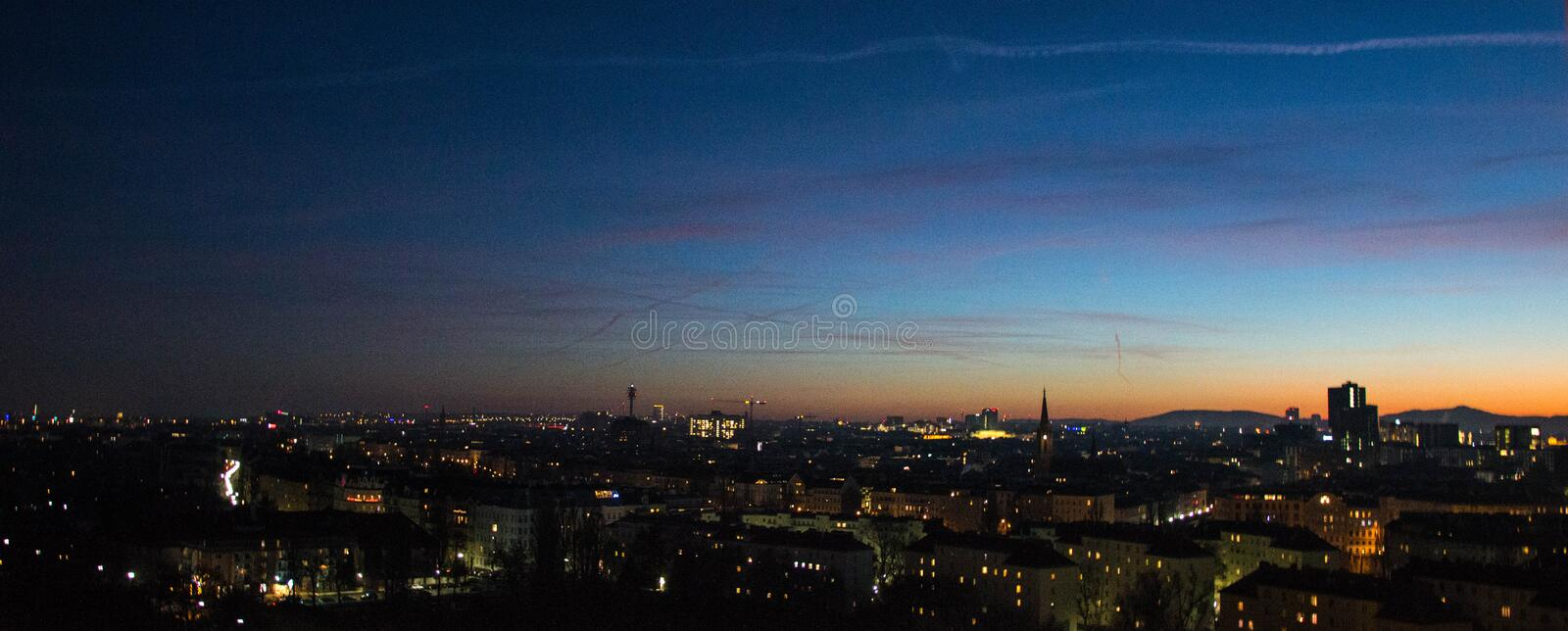 Wien view from panoramic wheel royalty free stock image