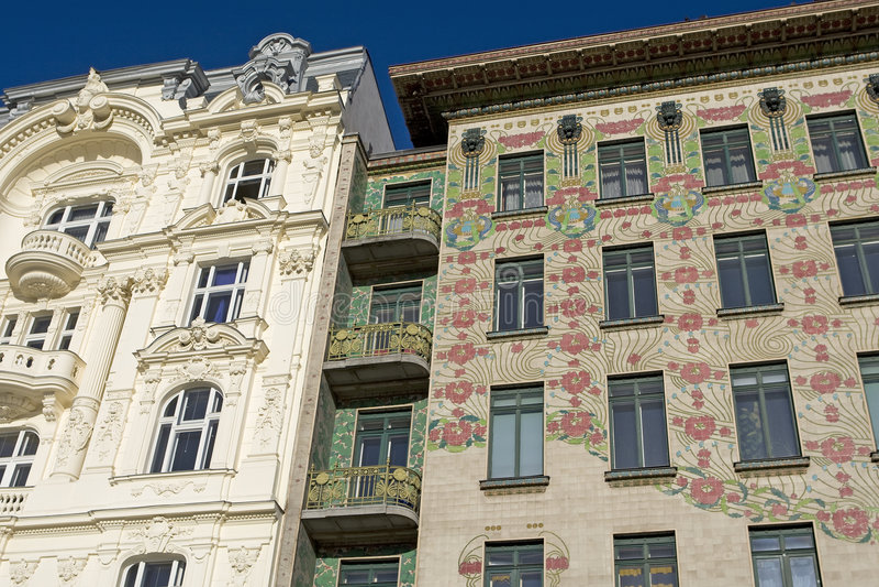 Wiener Architektur Kunst Nouveau, Otto Wagner stockfotos