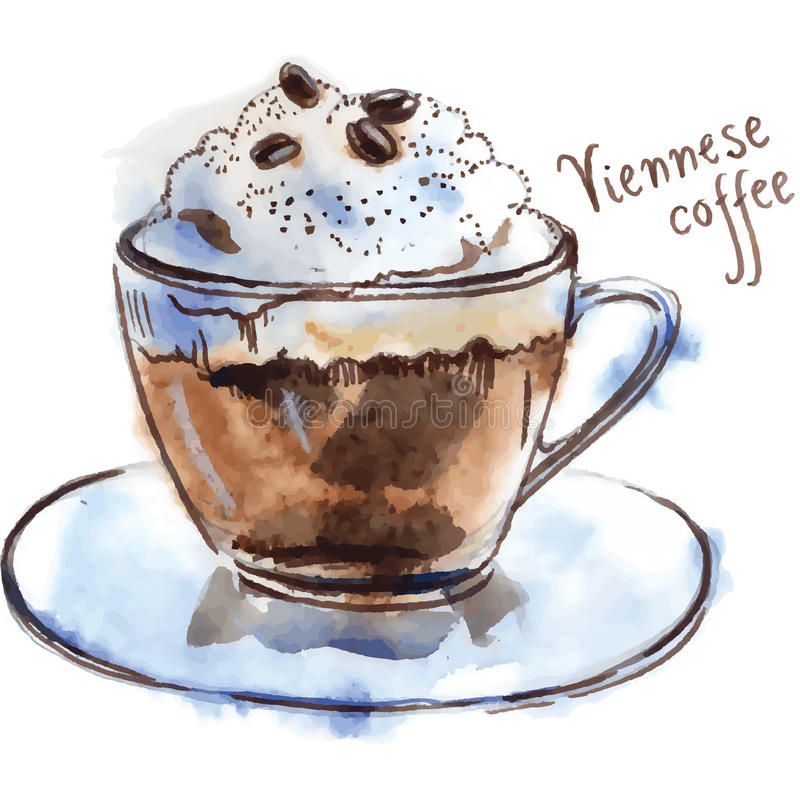 Wiener Kaffee stock abbildung