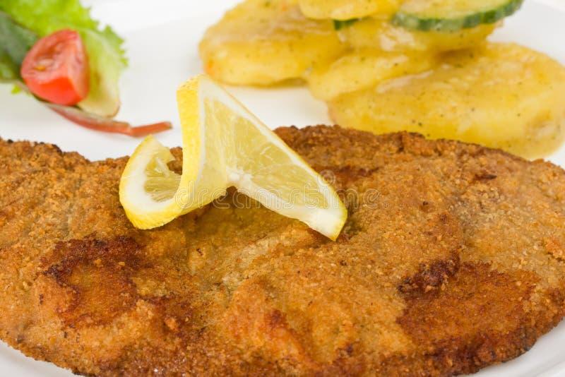 wiener schnitzel стоковое изображение