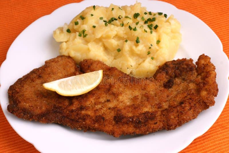 wiener schnitzel стоковое фото