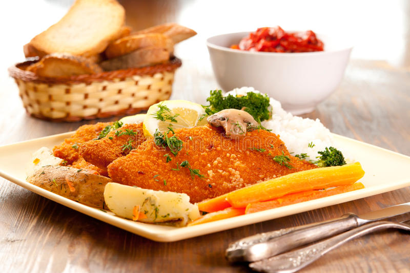 Wiener Schnitzels royalty free stock image