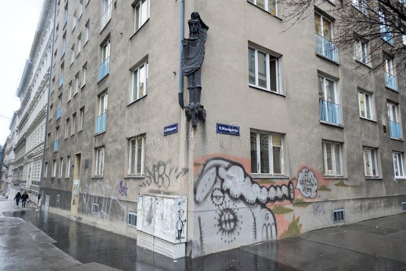 Wiener Wohngebäude stockfotos