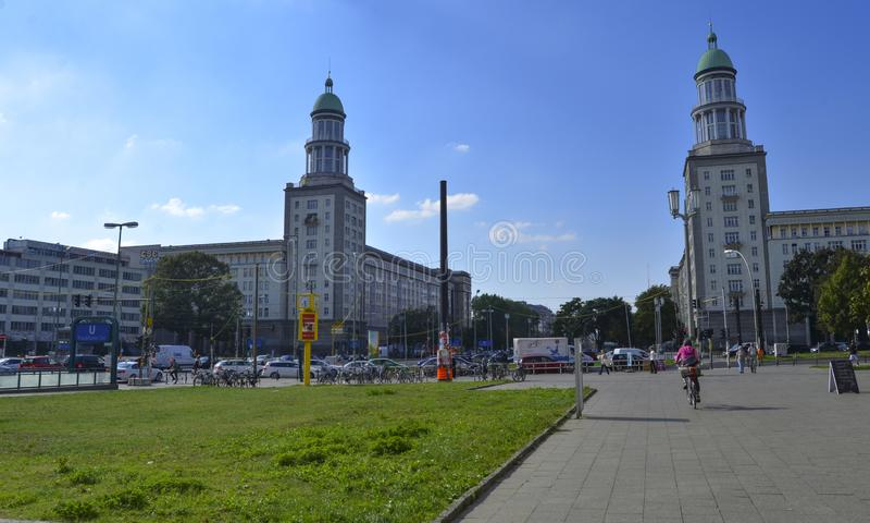 Wienerkorvtor i Berlin, Tyskland, September 2017 arkivbilder