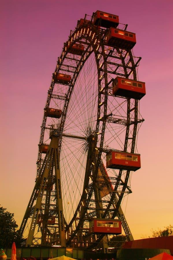 wienner колеса prater ferris стоковое изображение rf