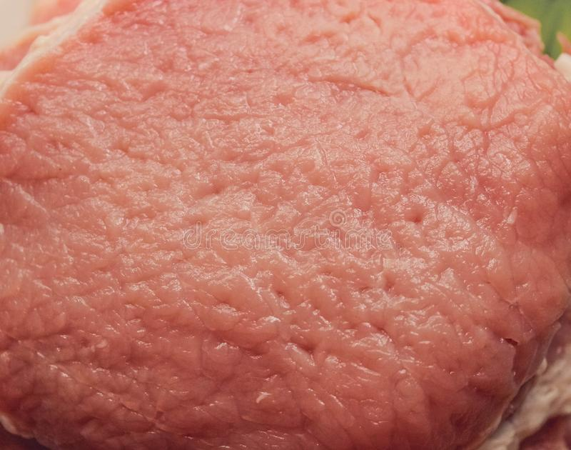 Wieprzowina kotlecik, surowa wieprzowina dla mięsnych gości restauracji fotografia stock