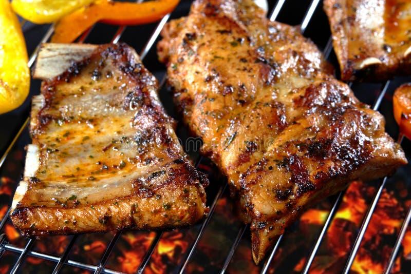 wieprzowina piec na grillu ziobro fotografia stock