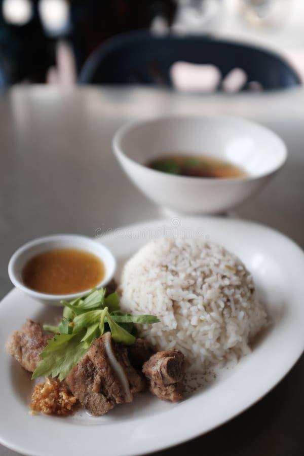 wieprzowina ryż obrazy royalty free