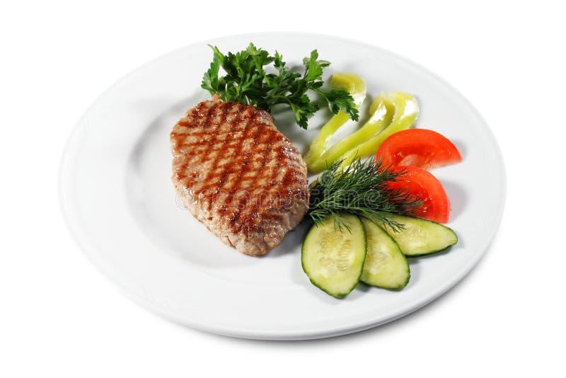 wieprzowina stek zdjęcia stock