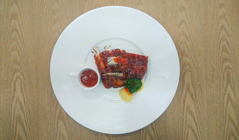 Wieprzowina ziobro stek obraz stock